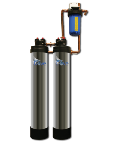 Water Dove Whole-House Dual Tank Combo Filter and Conditioner SCF-9000 (4-6 Bathrooms) GAC/CAT mixed