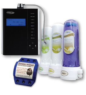 The Chanson Miracle M.A.X. PREMIER PACKAGE comes with the Miracle M.A.X. Ionizer, the C3 Pre-Filter, and the Ionizer Armor